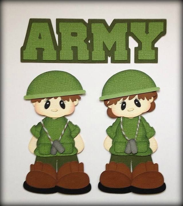 Army boy and girl clipart clip art free download Pin by Debbie Dugorepec on Paper Piecing Military   Paper piecing ... clip art free download