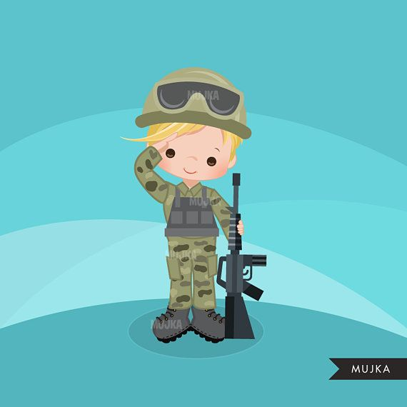 Army boy and girl clipart svg transparent Army clipart Little soldier boy graphics. Salute patriots   USA ... svg transparent