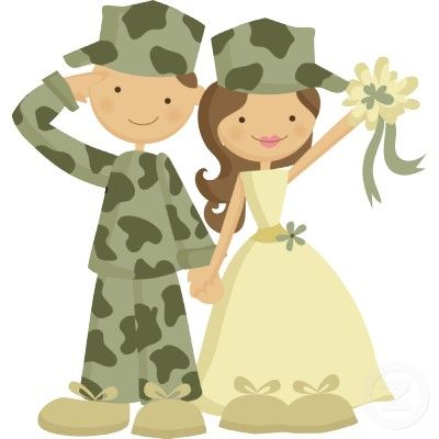 Army cake clipart graphic royalty free library Soldier and Bride Wedding Cake Topper Standing Photo Sculpture ... graphic royalty free library