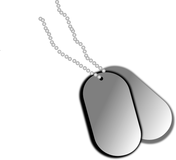 Army cat clipart jpg free Dog Tags Clip Art at Clker.com - vector clip art online, royalty ... jpg free