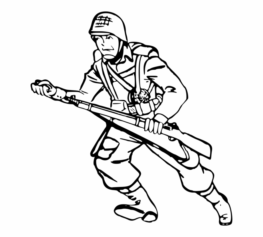 Army clipart outline graphic library download Soldier Drawing Solider Military Soldier Clipart Black And - Clip ... graphic library download