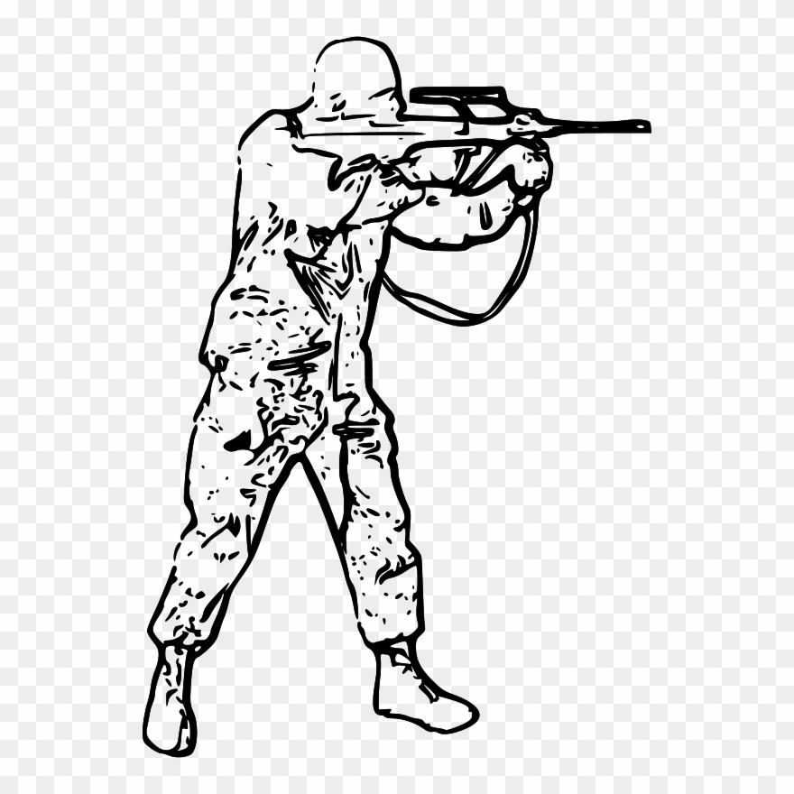 Black And White Picture Of Soldier Clipart (#1990730) - PinClipart clip art freeuse download