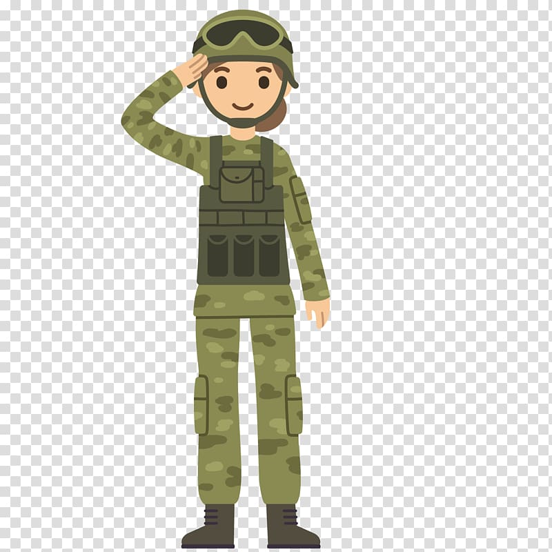 Army combat soldier clipart svg black and white library Soldier standing illustration, Soldier Salute Cartoon Army, Wearing ... svg black and white library