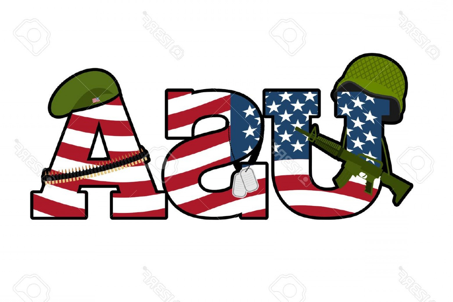 Army green american flag clipart image freeuse Photostock Vector Us Army Symbol Military Emblem Of America American ... image freeuse