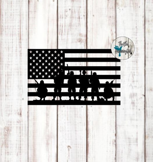 Army green american flag clipart clipart royalty free download American Flag and Soldiers FREE SVG File | Home | Free svg cut files ... clipart royalty free download