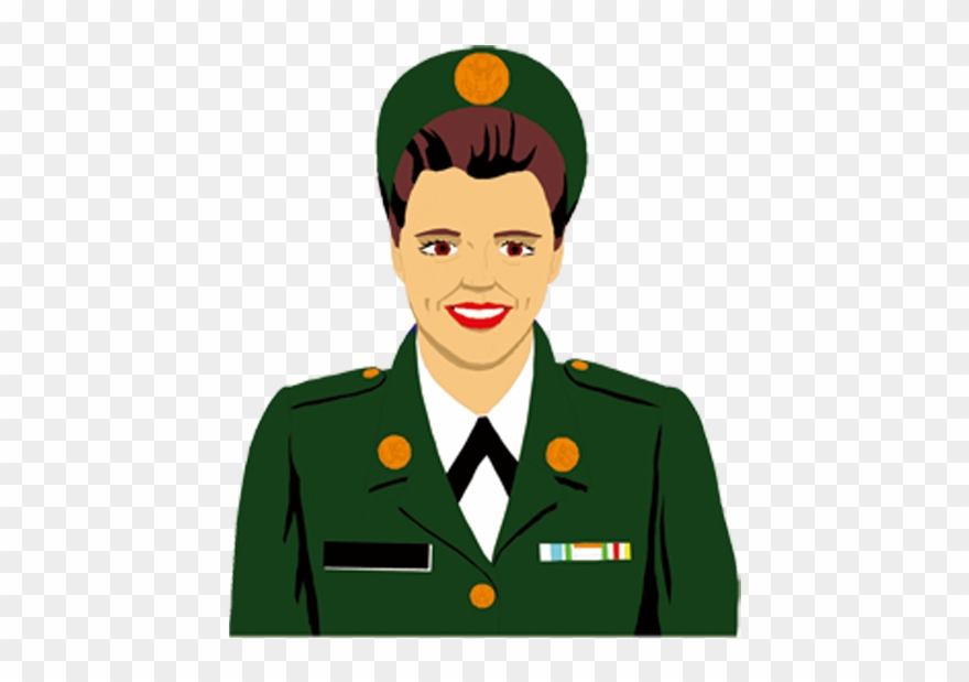 Army officer clipart