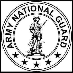 Army national guard logo clipart vector royalty free library Army National Guard Seal Black And White Magnet vector royalty free library