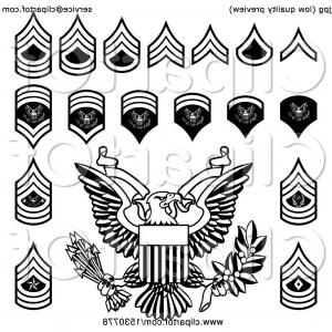 Army rank patches clipart black and whitw banner free stock Black And White American Military Army Officer Rank Insignia Badges ... banner free stock