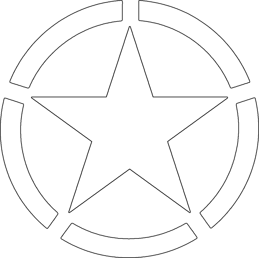 Army star logo clipart vector black and white Free Military Stars Cliparts, Download Free Clip Art, Free Clip Art ... vector black and white