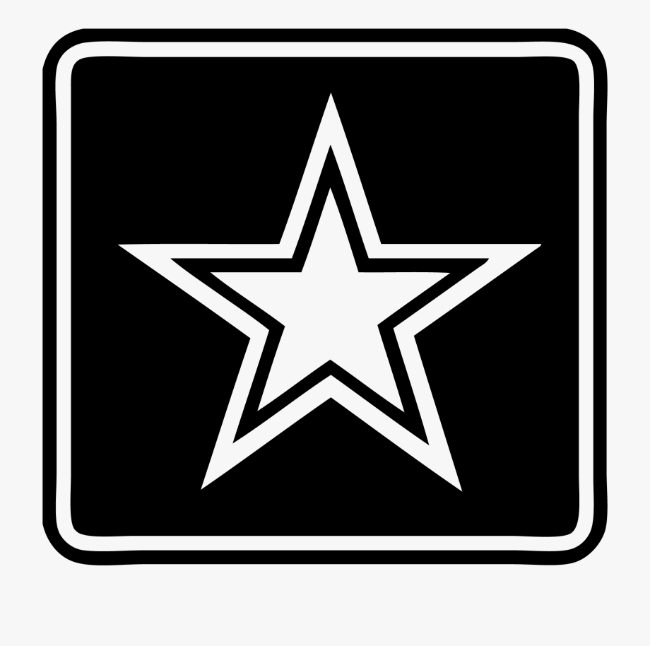 Army star logo clipart png freeuse library Military Star Clipart - Transparent Background Us Army Logo #366991 ... png freeuse library