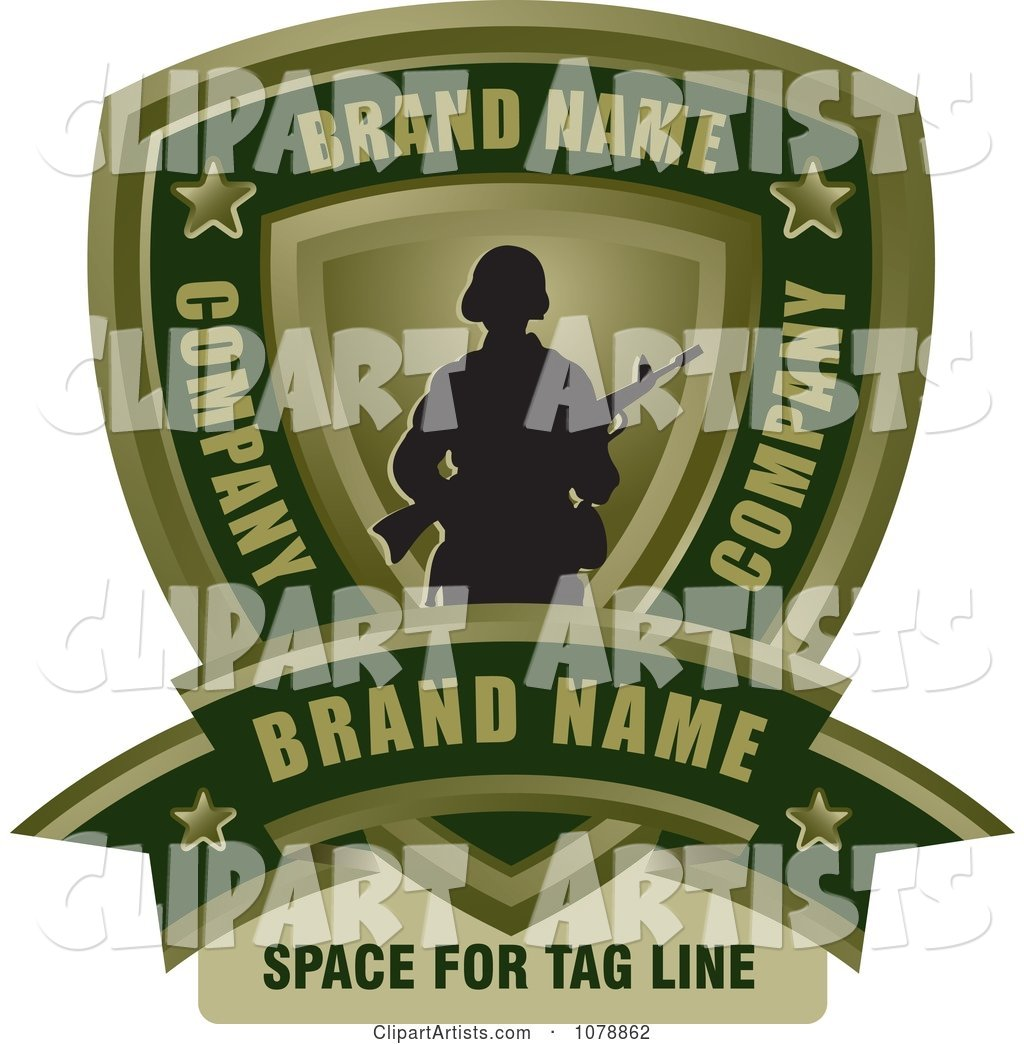Army text clipart library Army Soldier Shield And Banner Sample Text Logo Clipart by Lal ... library