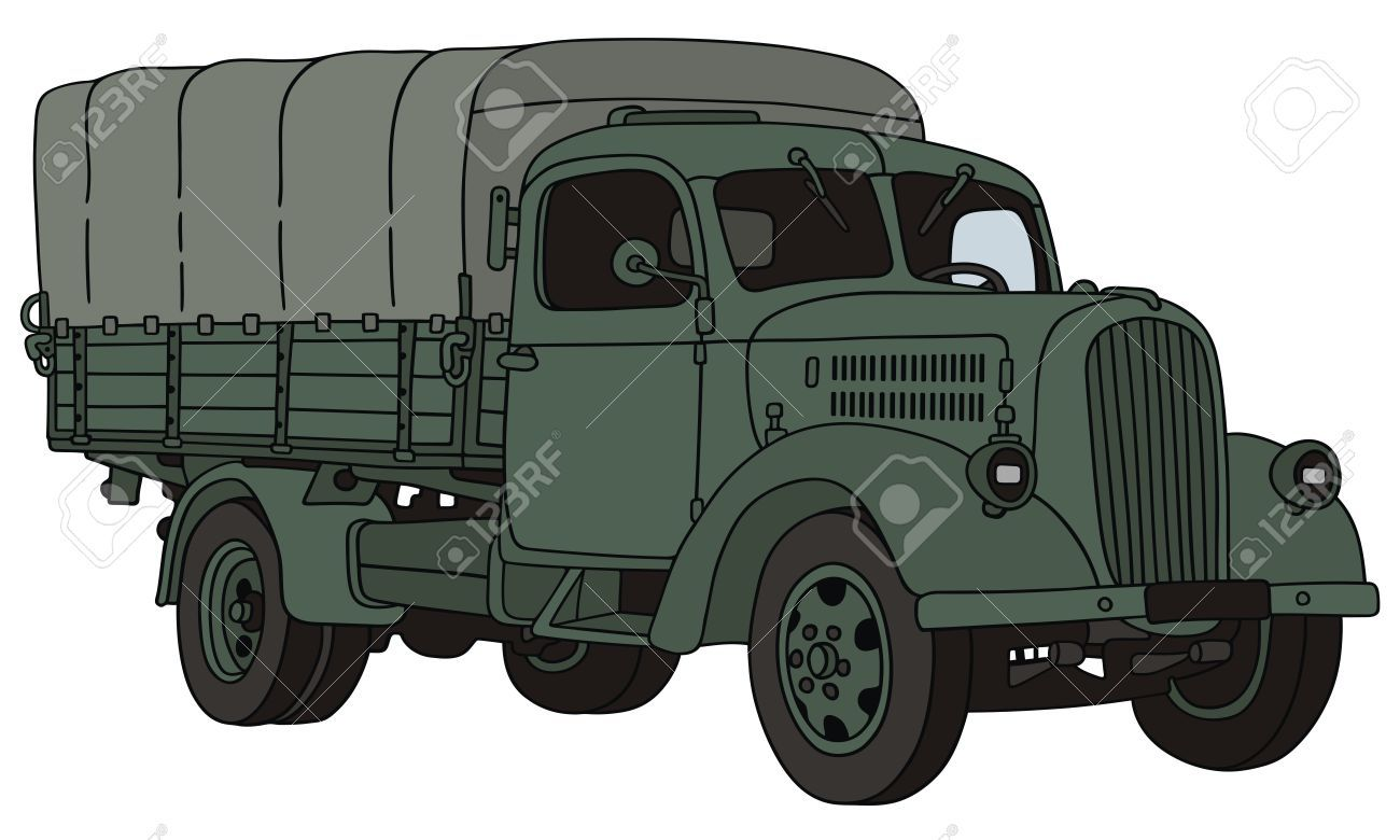 Army truck clipart banner black and white library Army truck clipart 7 » Clipart Portal banner black and white library