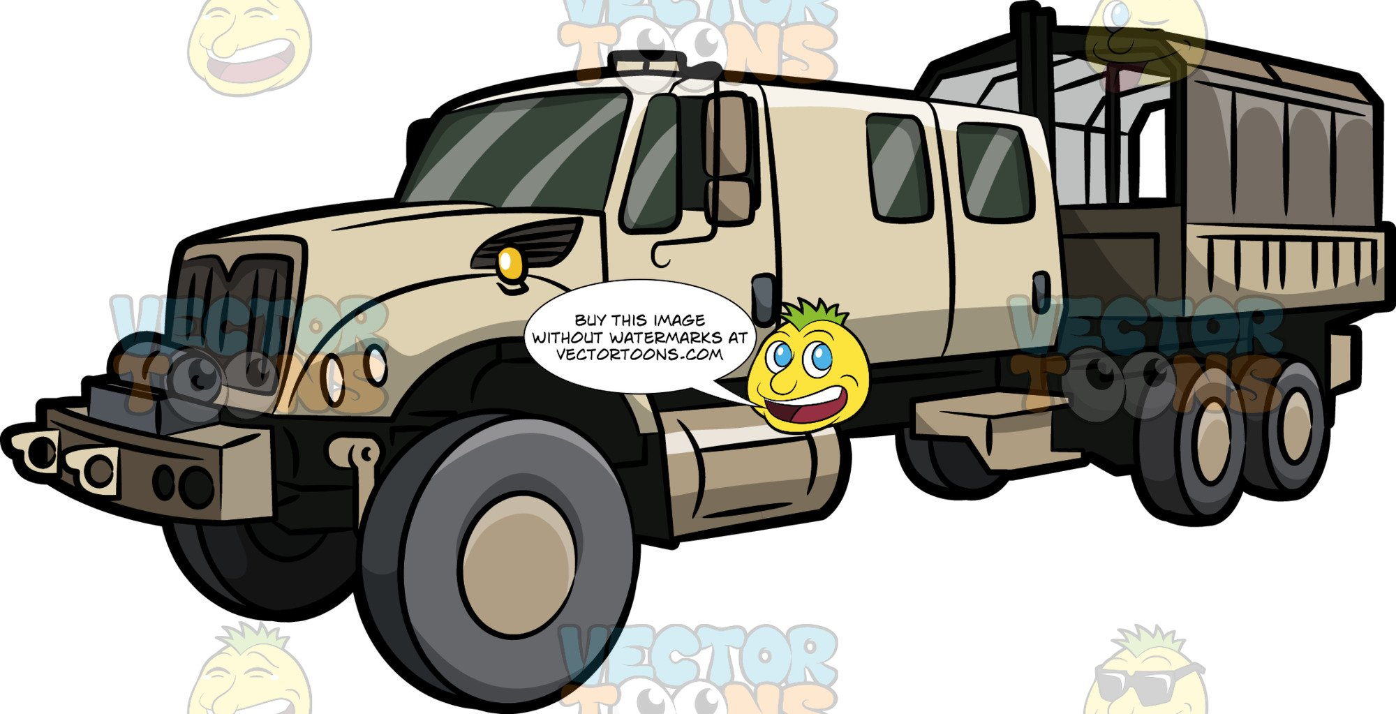 Army truck clipart graphic transparent A Big Army Truck Vehicle graphic transparent