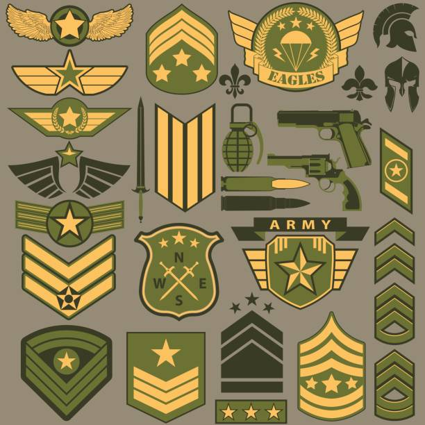 Army unit patches clipart vector royalty free library Collection of 14 free Patch clipart military aztec clipart vintage ... vector royalty free library