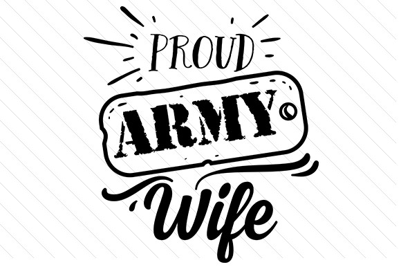 Army wife clipart svg graphic library download Proud army wife graphic library download