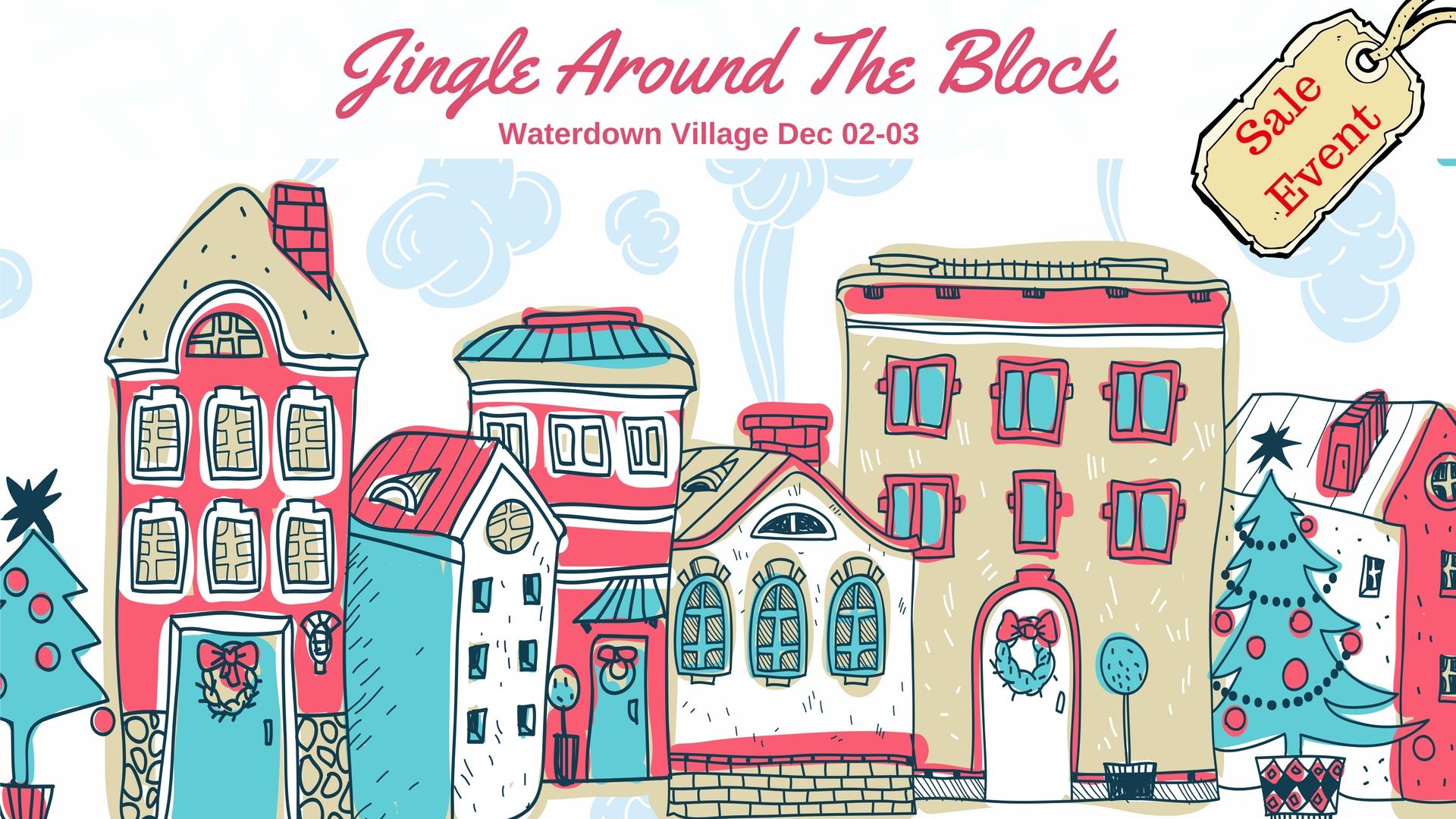 Around the block clipart vector royalty free stock jingle-around-the-block - Creative Insight Pottery vector royalty free stock