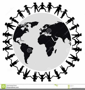 Around the world clipart black and white