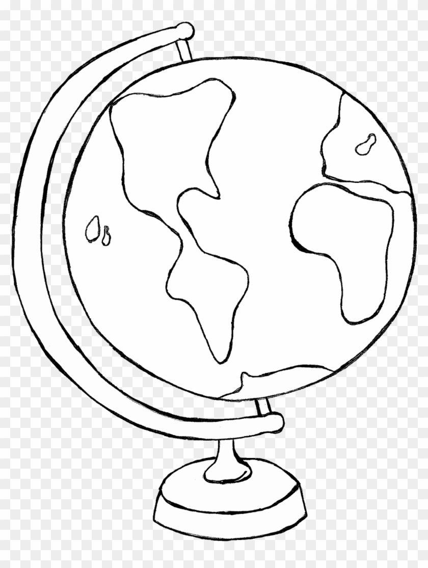 White globe clipart image download Transparent World Globe 2 Clipart - Globe Clip Art Black And White ... image download