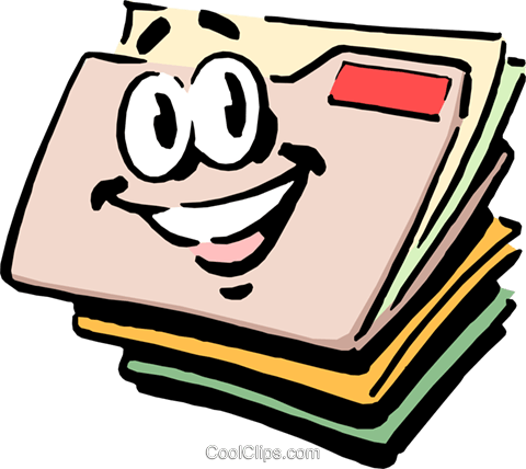 Arquivo clipart clip stock Cartoon file folders Royalty Free Vector Clip Art illustration ... clip stock