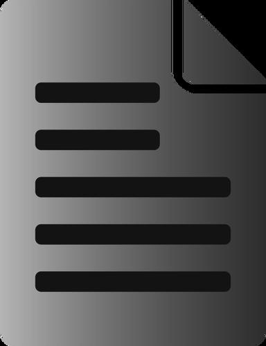 Arquivo clipart black and white Tons de cinza texto arquivo ícone vector clipart   Vectores de ... black and white