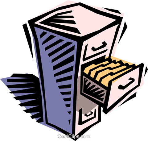 Arquivo clipart picture free filing cabinet Royalty Free Vector Clip Art illustration -busi1406 ... picture free