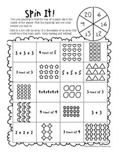Array clipart 2nd grade banner royalty free library 1021 Best Common Core Math images in 2019 | Math classroom, Teaching ... banner royalty free library
