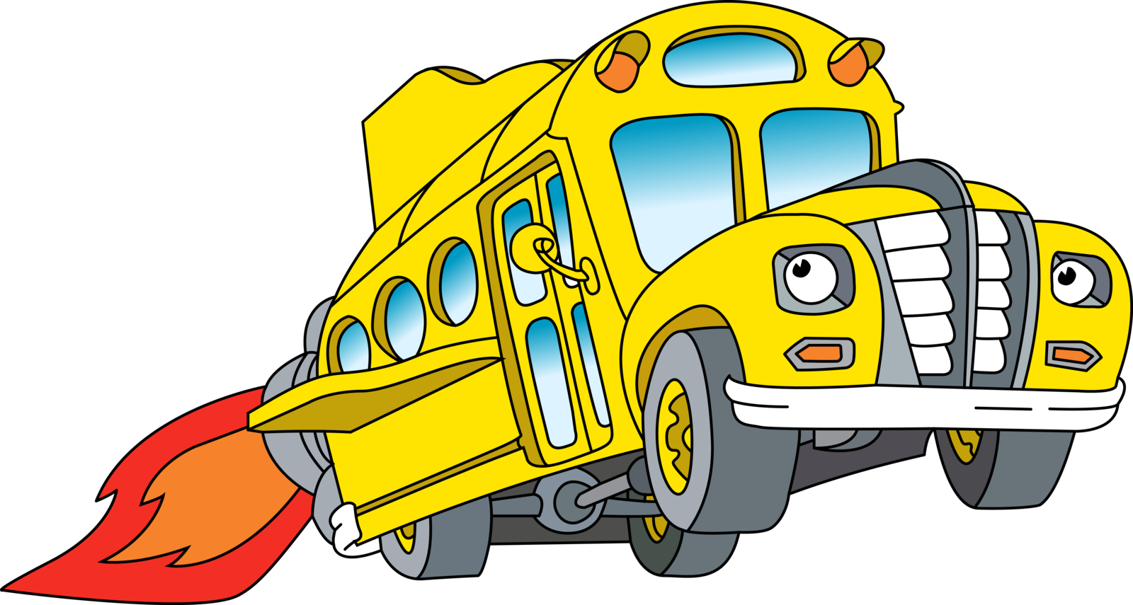 School bus front clipart png black and white library Magic School Bus Clipart at GetDrawings.com | Free for personal use ... png black and white library