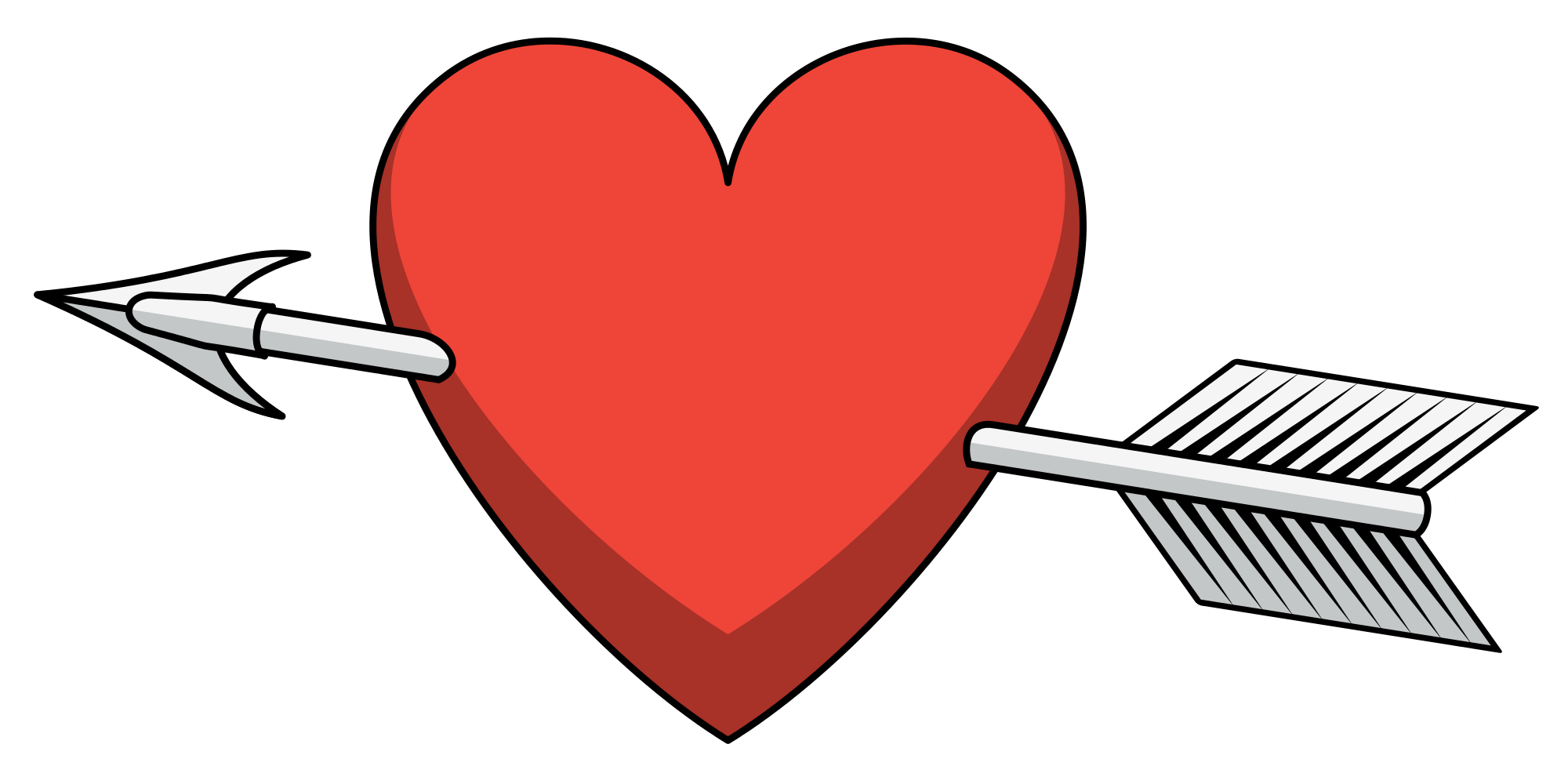Free clipart heart with arrow clip art download File:Heart arrow shaded.svg - Wikimedia Commons clip art download