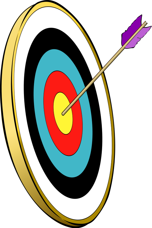 Arrow and target clipart svg library stock Arrow and target clipart - ClipartFest svg library stock