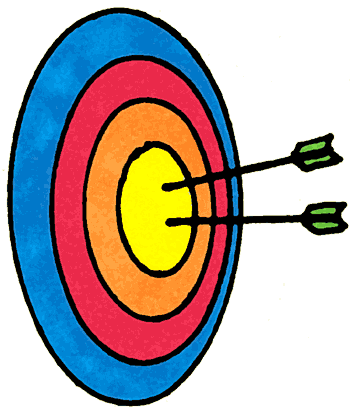 Bow clipartfest archery archer. Arrow and target clipart