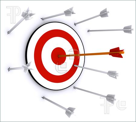 Hitting clipartfest missed . Arrow and target clipart