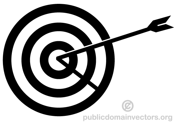 Arrow and target clipart. Hitting clipartfest in the