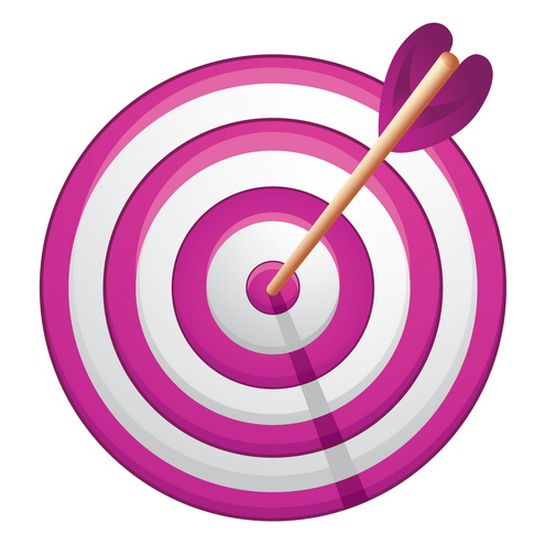 Arrow and target clipart png black and white Arrow Bullseye Clipart - Clipart Kid png black and white