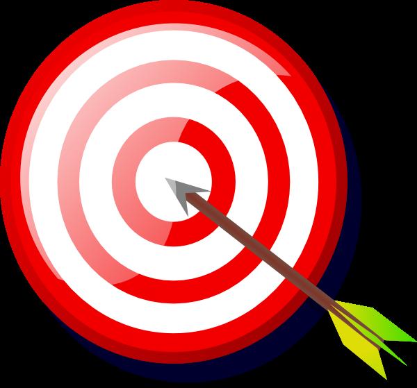 Arrow and target clipart vector transparent stock Arrow Bullseye Clipart - Clipart Kid vector transparent stock