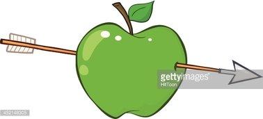 Arrow apple clipart