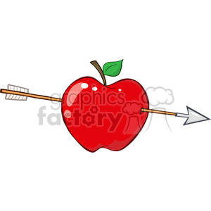 Arrow apple clipart graphic library 12935 RF Clipart Illustration Arrow Through Red Apple clipart. Royalty-free  clipart # 385103 graphic library