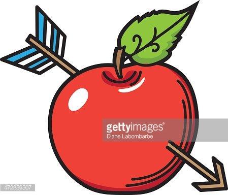 Arrow apple clipart banner Cartoon Apple With Arrow premium clipart - ClipartLogo.com banner