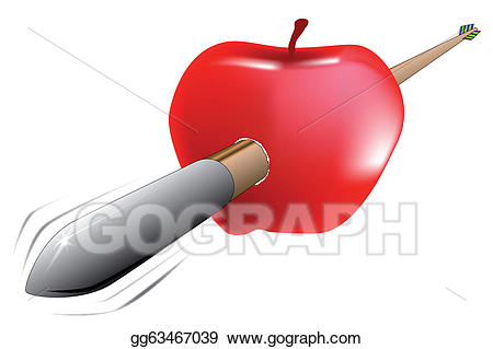 Arrow apple clipart png transparent stock Vector Art - Arrow and apple. Clipart Drawing gg63467039 - GoGraph png transparent stock