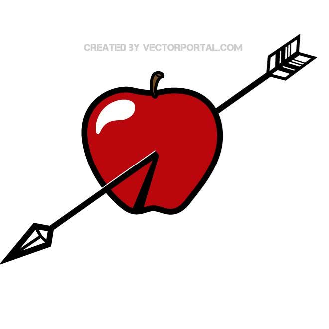 Arrow apple clipart royalty free library APPLE AND ARROW VECTOR GRAPHICS - Free vector image in AI and EPS ... royalty free library