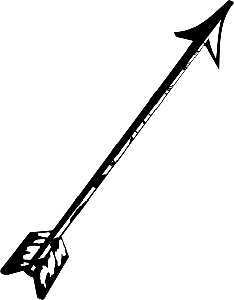 Arrow black and white clipart vector Clipart Bow And Arrow & Bow And Arrow Clip Art Images - ClipartALL.com vector