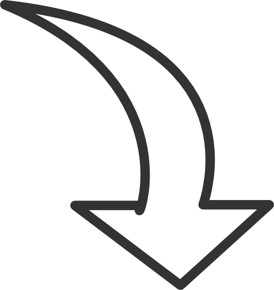 Bending arrow clipart