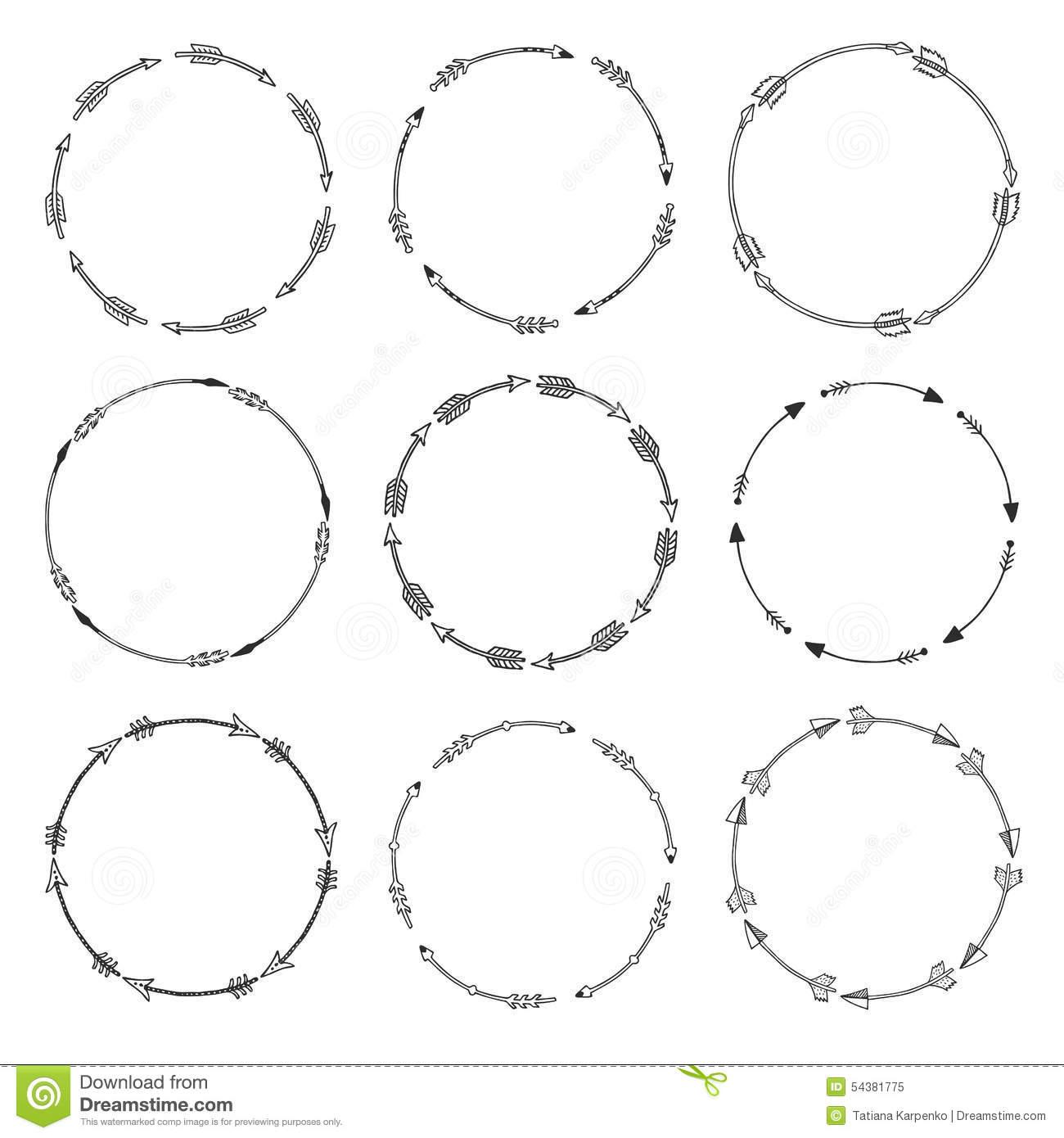 Arrow circle frame clipart. Clipartfest set of borders