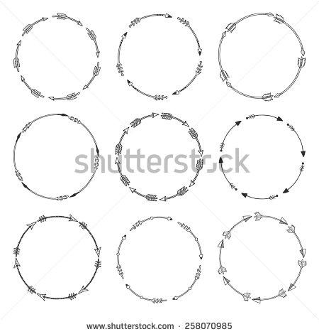 Arrow circle frame clipart. Clipartfox set of borders