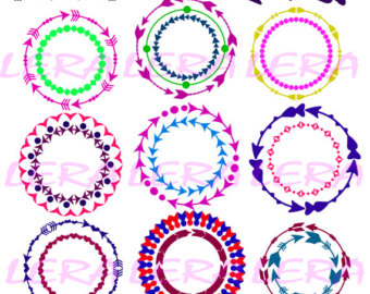 Arrow circle frame clipart. Etsy off svg file