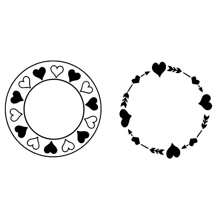 Arrow circle frame clipart image transparent library Circle Arrow Clip Art Monogram – Clipart Free Download image transparent library