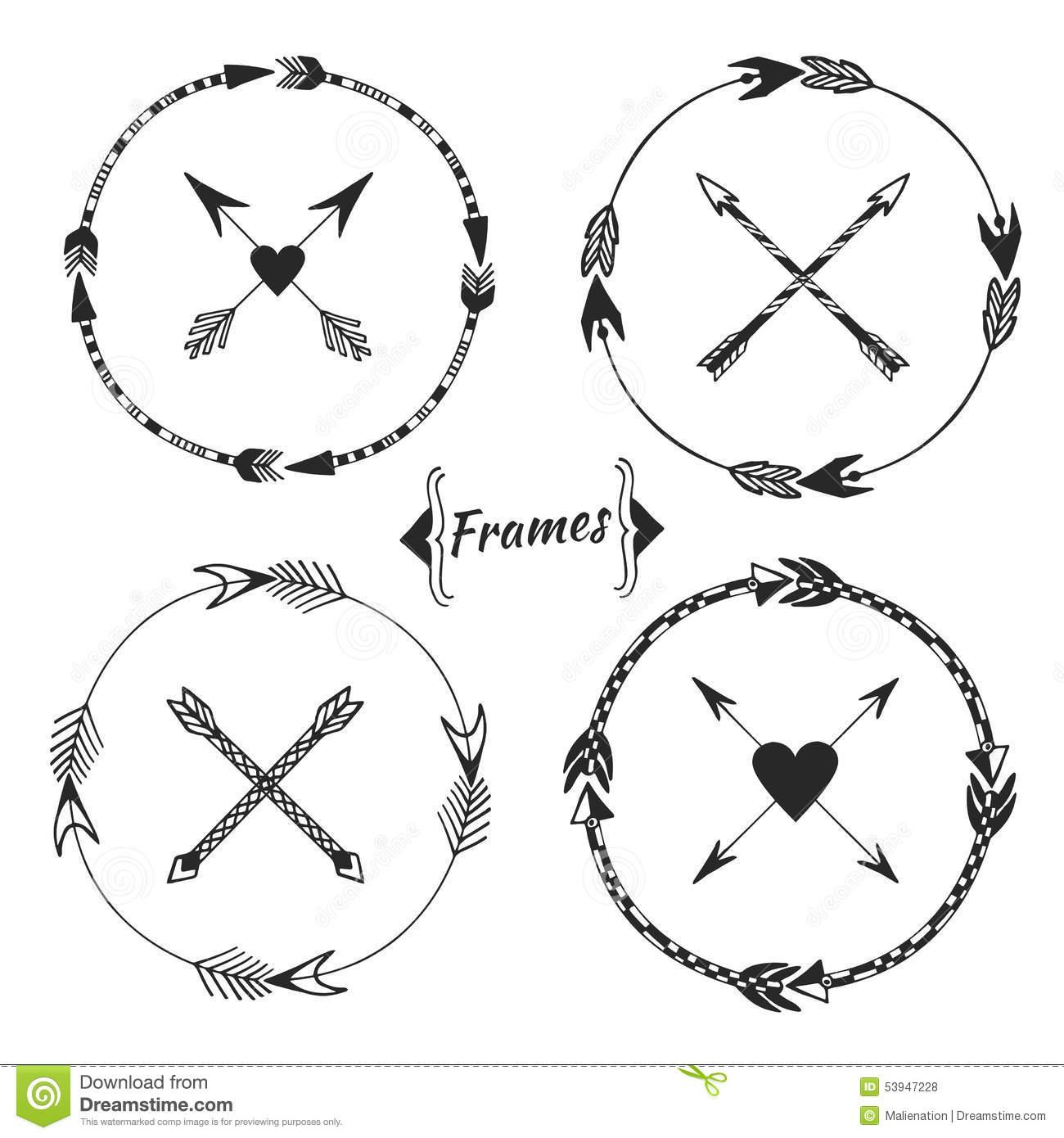Aztec clipartfest set of. Arrow circle frame clipart