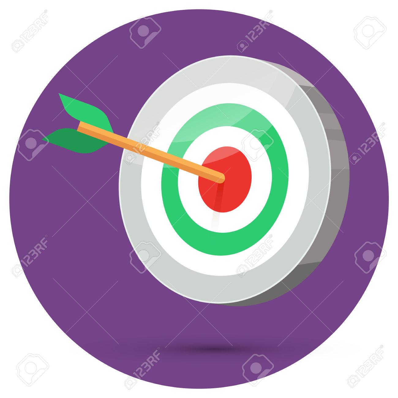 Arrow circle target clipart clip transparent download Dart Arrow Hitting Center Target On Color Background In Circle ... clip transparent download