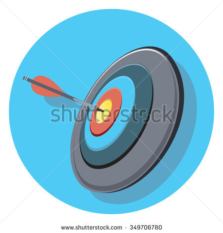 Arrow circle target clipart graphic library download Target And Arrow Circle Icon With Shadow Stock Vector Illustration ... graphic library download