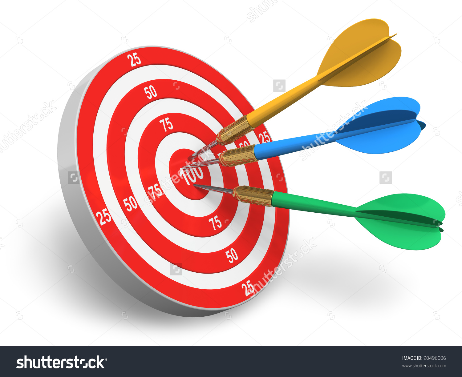 Arrow circle target clipart image free library Darts Game Red Circle Target Color Stock Illustration 90496006 ... image free library