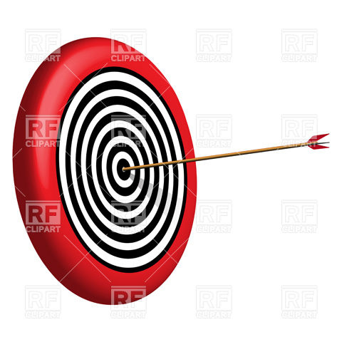 Arrow circle target clipart picture black and white Round target and arrow Vector Image #9800 – RFclipart picture black and white